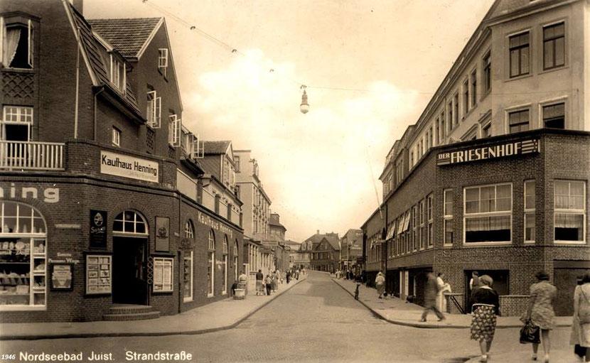 Strandstraße mit den -üblichen- Gebäudeansichten, 1946