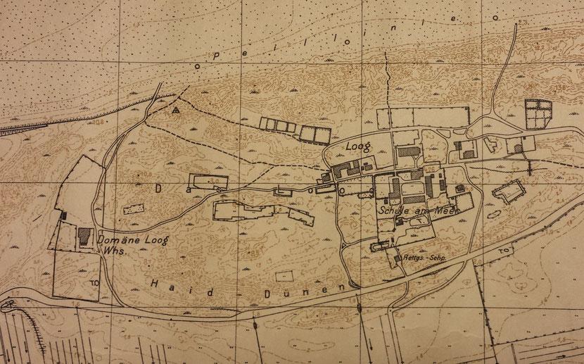 Karte um 1933