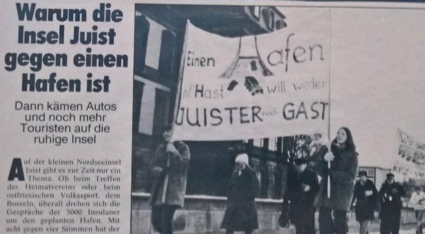 Demonstration des Juister Inselverein in Hannover zum Erhalt der Inselbahn...........