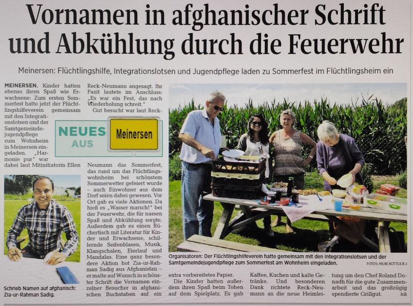 Aller-Zeitung vom 9.8.2016