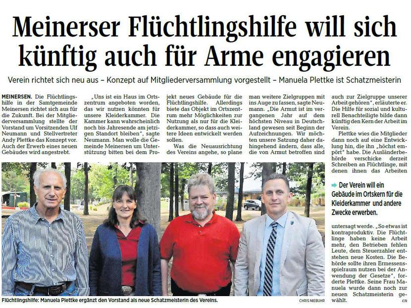 Aller-Zeitung vom 31.8.2018