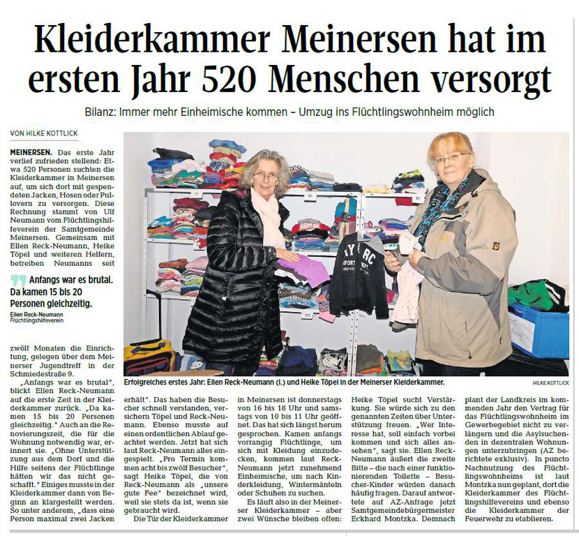 Aller-Zeitung vom 6.12.2017