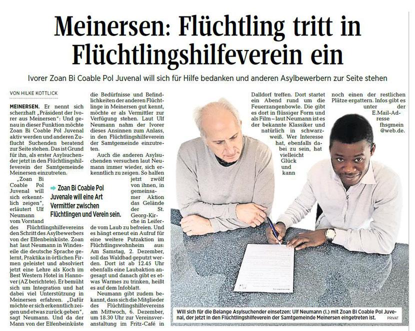 Aller-Zeitung vom 28.11.2017