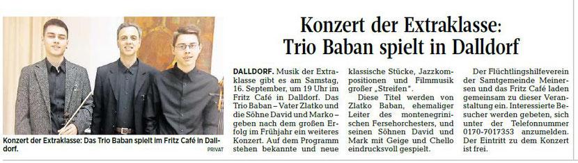 Aller-Zeitung vom 14.9.2017
