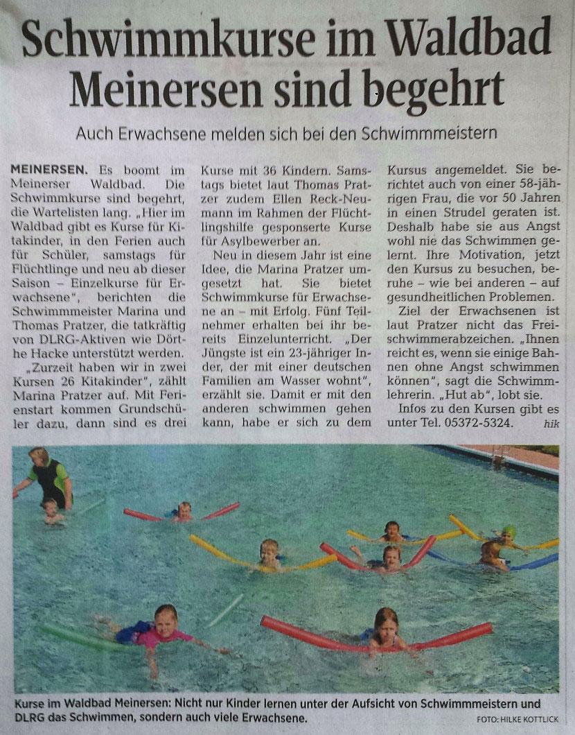 Aller-Zeitung vom 11.6.2016