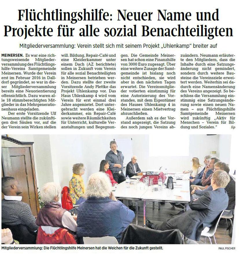 Aller-Zeitung vom 14.5.2019