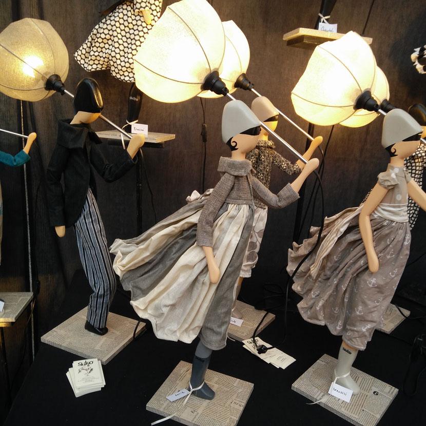 Skisto Designlampe Industrielampe Figurlampen Puppenlampe Figurleuchte Handarbeit Unikat Loft Lampenschirm Designerlampe Lampe Leuchte