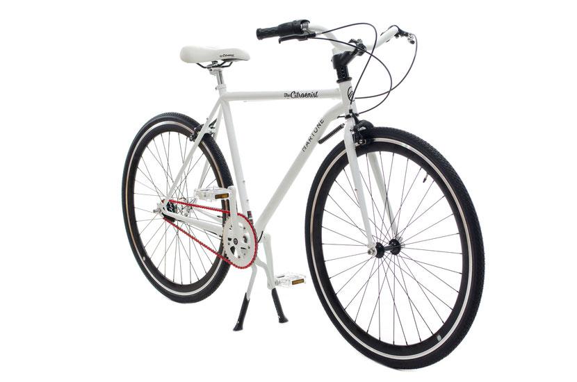 Vélo blanc citroen