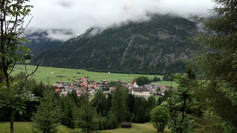 Der kleine Ort Holzgau