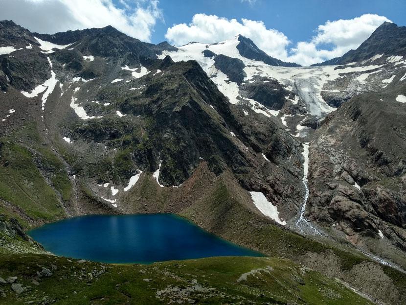 Das nächste Highlight: Blaue Lacke und Wilder Freiger (3.418m)