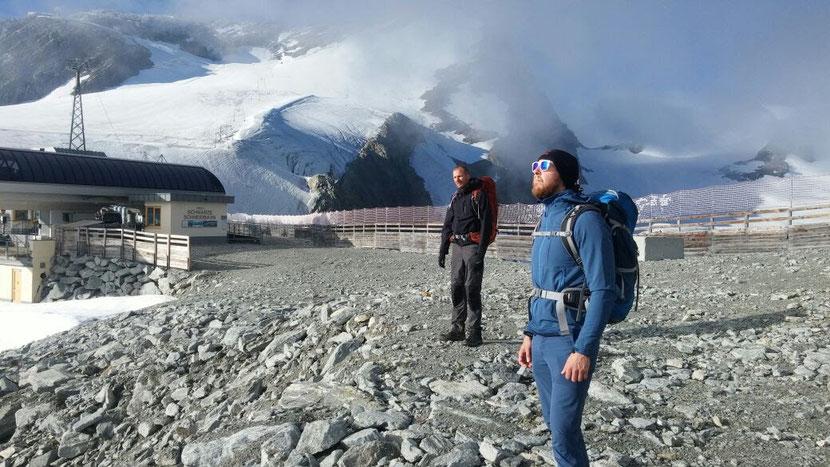 Im Skigebiet in Sölden auf 3.000m