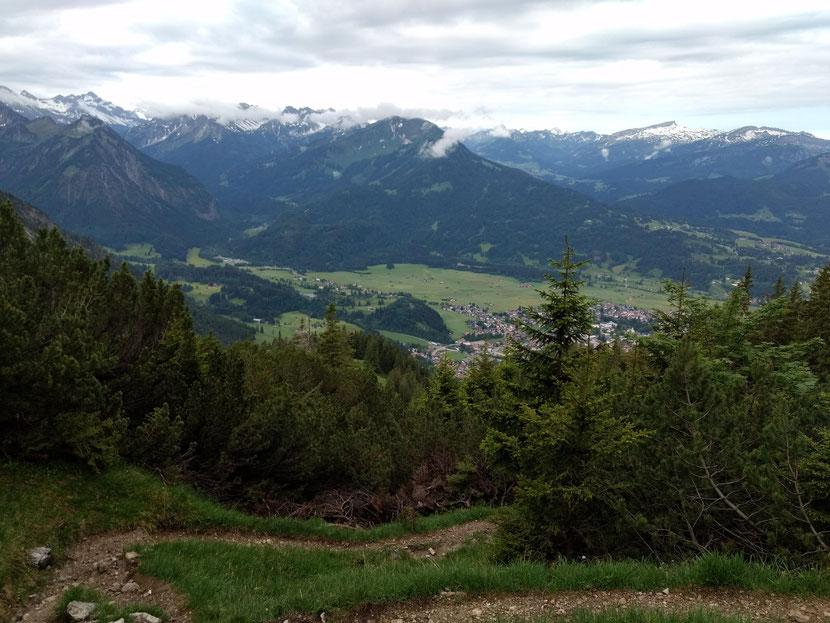 Erste Talblicke auf Oberstdorf