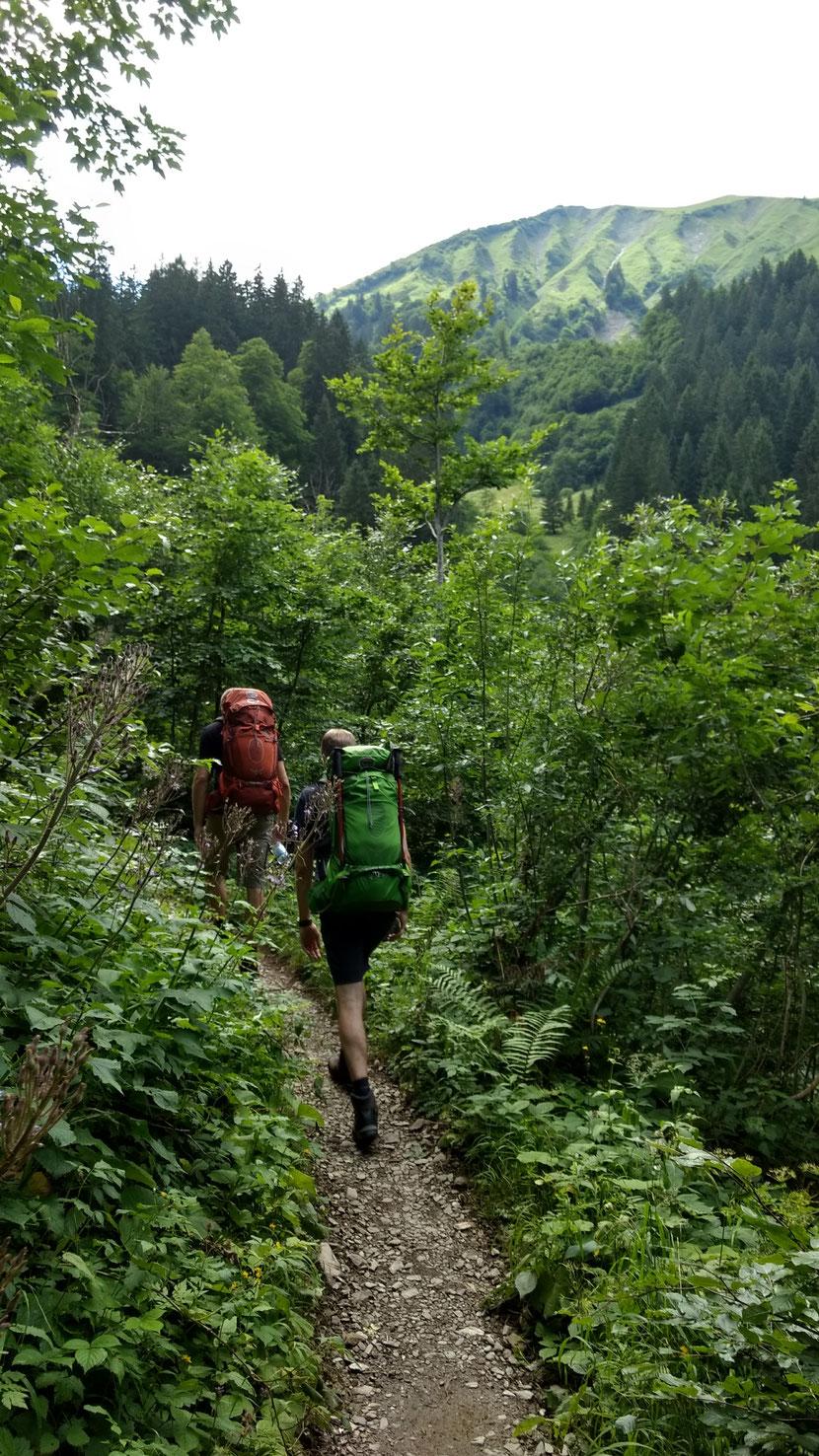 Aufstieg zur Kemptner Hütte