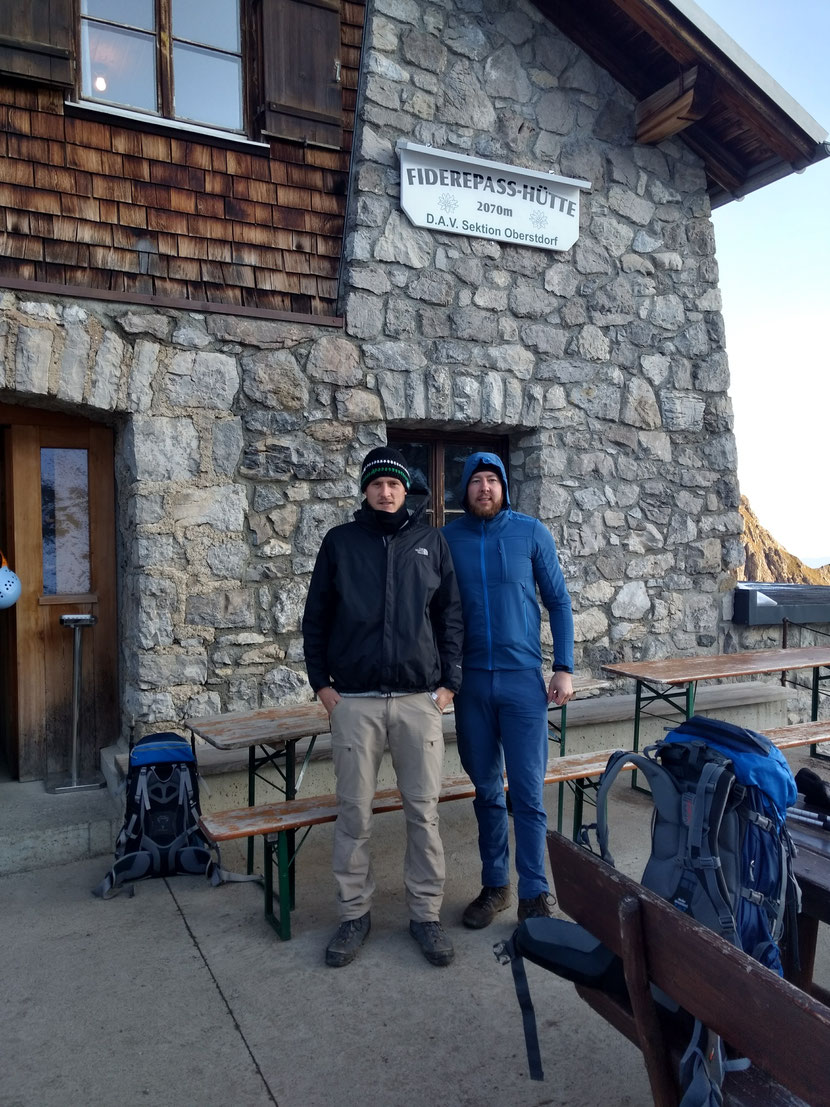 Morgens an der Fiderepasshütte bei -1 Grad