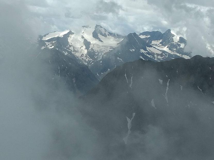 Spektakuläre Sicht auf die Stubaier Gletscherwelt