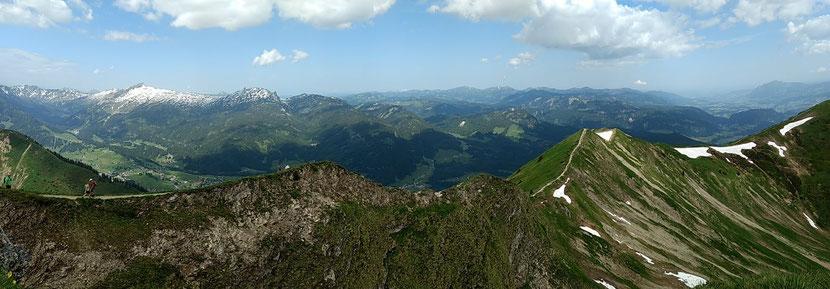 Panorama des langen Fellhorngrats