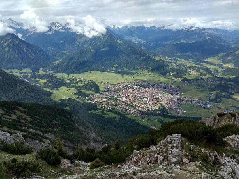 Toller Blick auf Oberstdorf