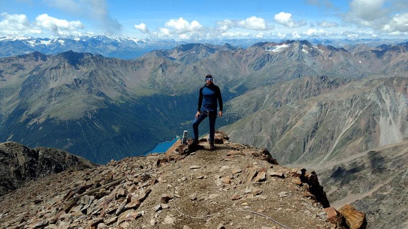Fantastische Sicht am Gipfel