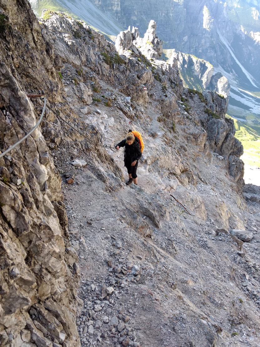 Felsiger Aufstieg Richtung Gipfel