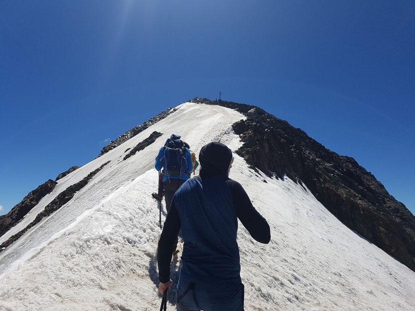 Wir nähern uns dem Gipfel