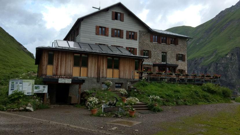 Unser Tagesziel Kemptner Hütte (1.844m)