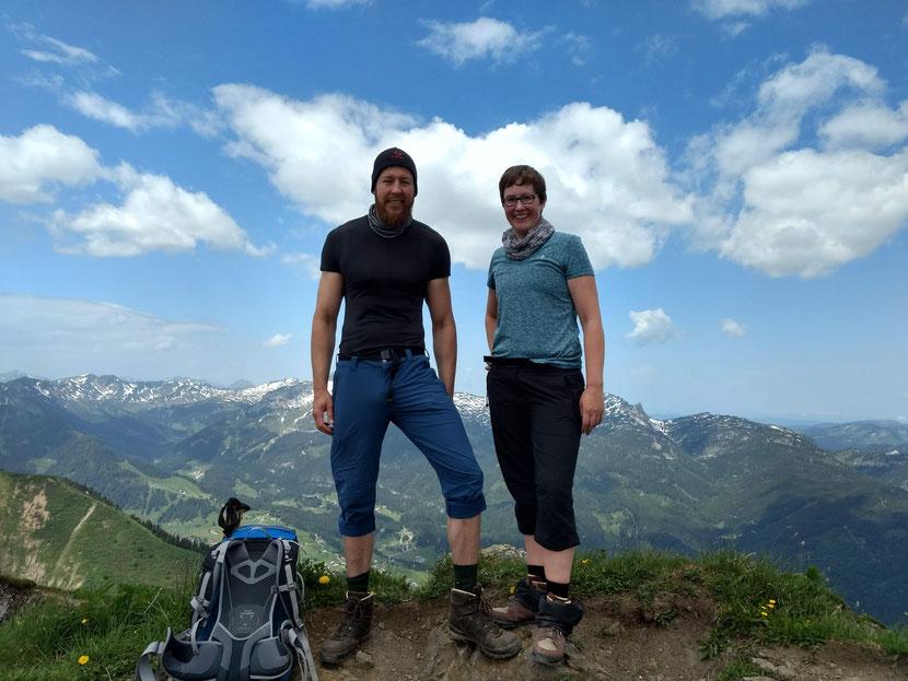 Am Gipfel des Fellhorn (2.037m)