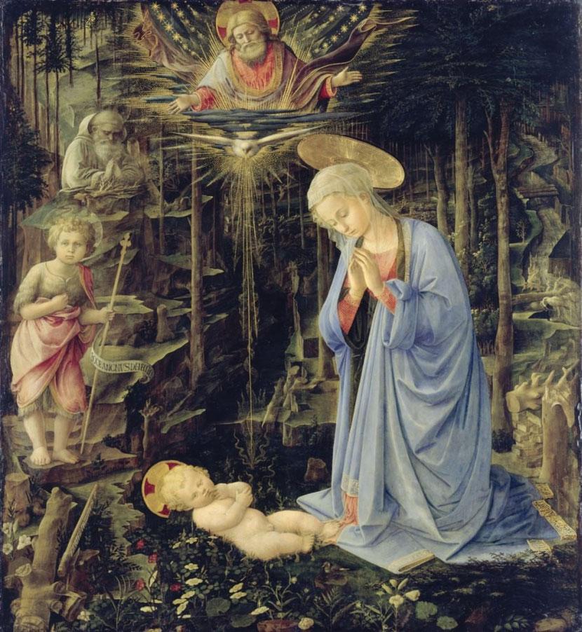 Filippo Lippi, Anbetung im Walde, um 1459, Gemäldegalerie SMB