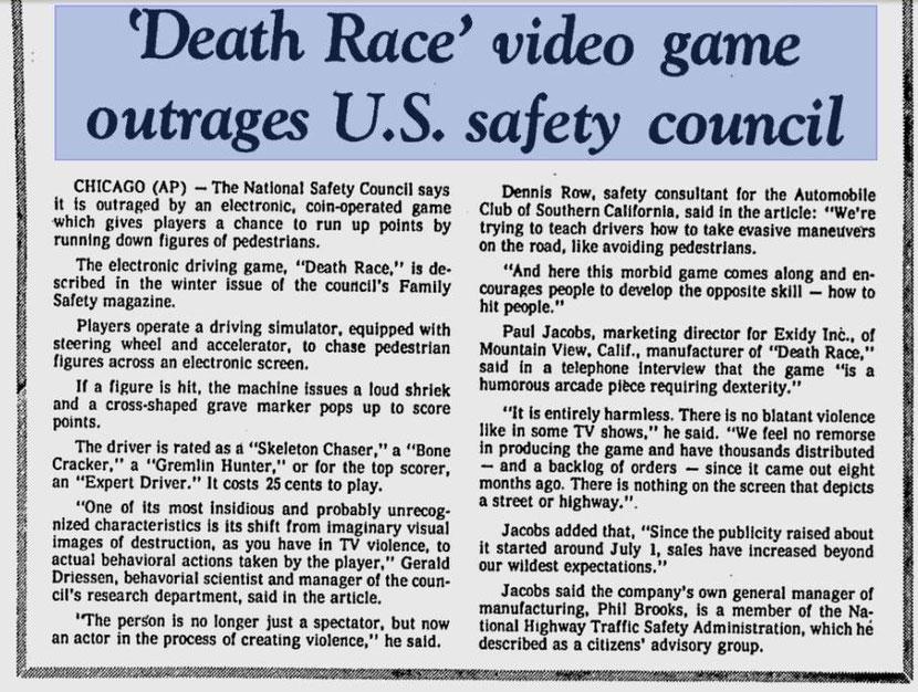 Death Race arcade