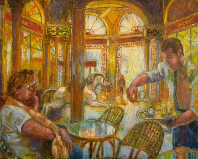 Galerie Bordelaise - 81 x 65 cm - huile sur toile