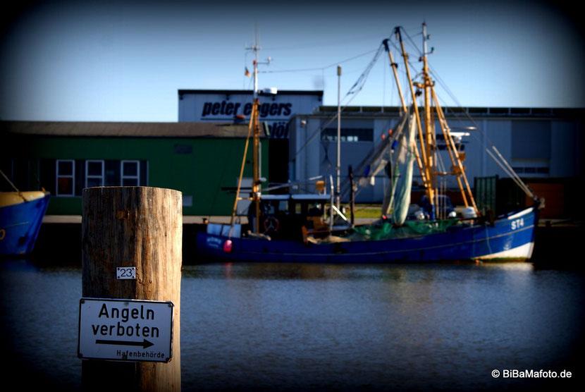 Angeln verboten ... hoffentlich weiß das auch der Kapitän der Möwe ... :) ... mehr aus dem Husumer Hafen!