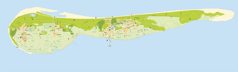 Die niederländische Nordseeinsel Ameland liegt im ostfriesischen Wattenmeer zwischen den Inseln Terschelling und Schiermonnikoog.