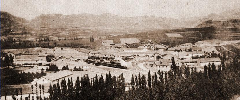 Vista antigua  del Barrio de La Estación
