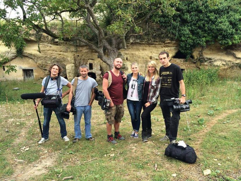 équipe tournage animaux de la 8