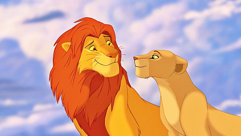 animaux disney roi lion simba nala afrique