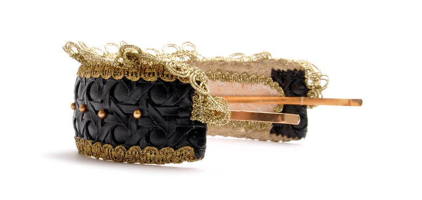 Headpiece . Goldreifen  Niely Hoetsch black & gold