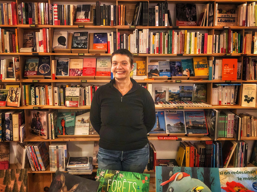 Nathalie Schreiber a pu rouvrir sa librairie fin novembre 2019. Crédit photo/Corentin Barsacq