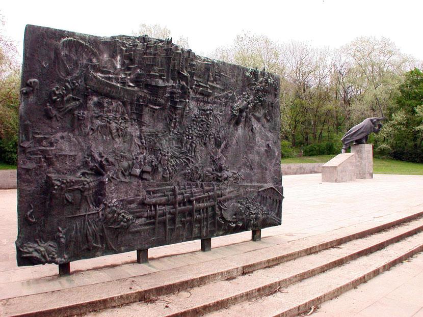 Bronzerelief mit Szenen aus dem Spanischen Bürgerkrieg von Siegfried Krepp, Foto: FHXB Museum