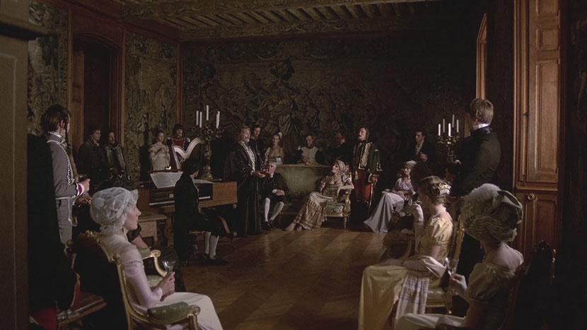 Scène 6 : Au salon de Mme de Lionne (2'09'').Tournée dans le Grand Salon du Château de Puymartin,à une dizaine de kilomètres à l'ouest de Sarlat,dans la commune de Marquay