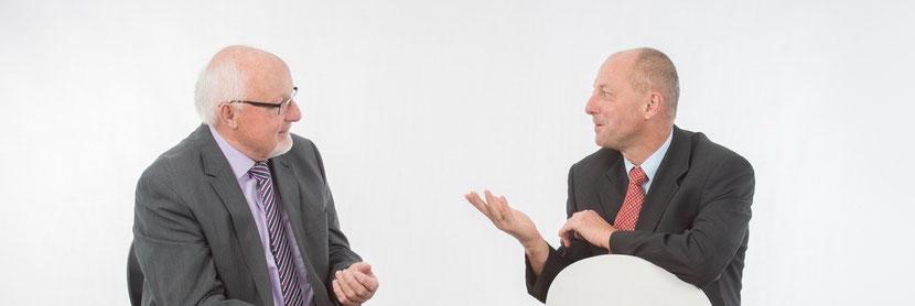 Ihre Experten zur Unternehmensnachfolge - Herr Walter Kaltenbach und Herr Ulrich Mölter