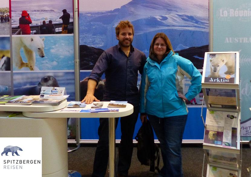 Christian Bruttel und ich am Stand von Spitzbergen Reisen & Partner