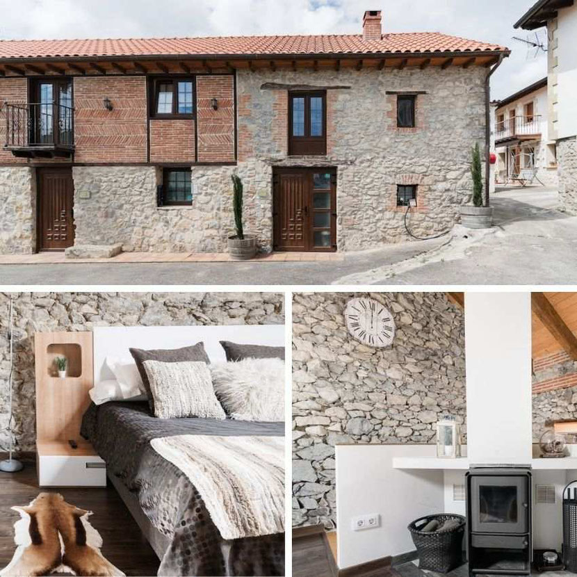 a unique traditional white stone house in Santander that you can rent on Airbnb