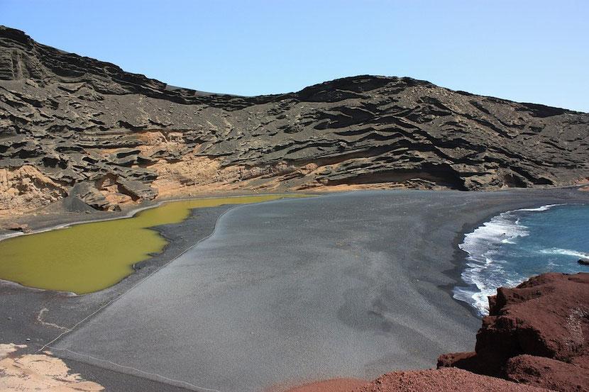 unusual place in Lanzarote: Lago Verde