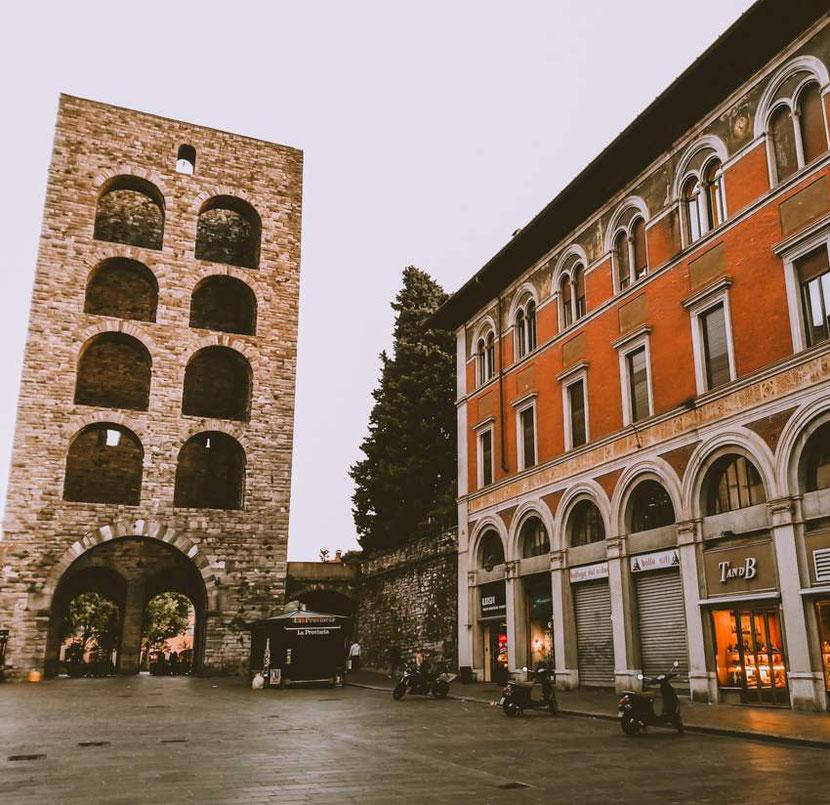 Porta Torre in Como city, Italy