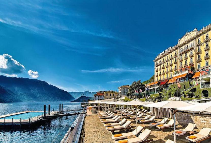 частный эксклюзивный пляж при отеле Grand Hotel Tremezzo