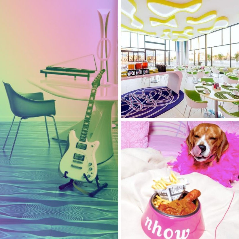 a cool music, pet and lifestyle hotel in Berlin