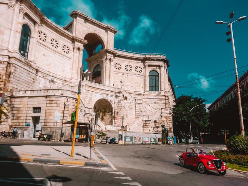 Saint Remy Bastion in Cagliari, Sardinia