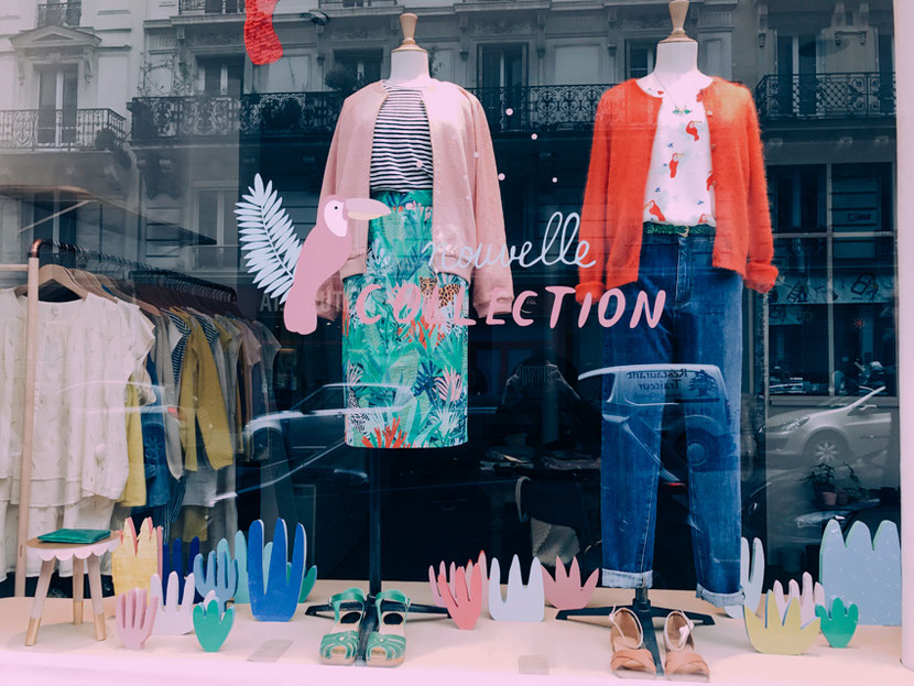 концептуальный магазин в Париже с оригинальными блузками и топами