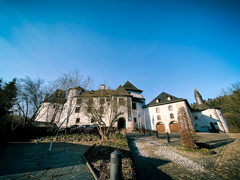 Clervaux Castle in Luxembourg country