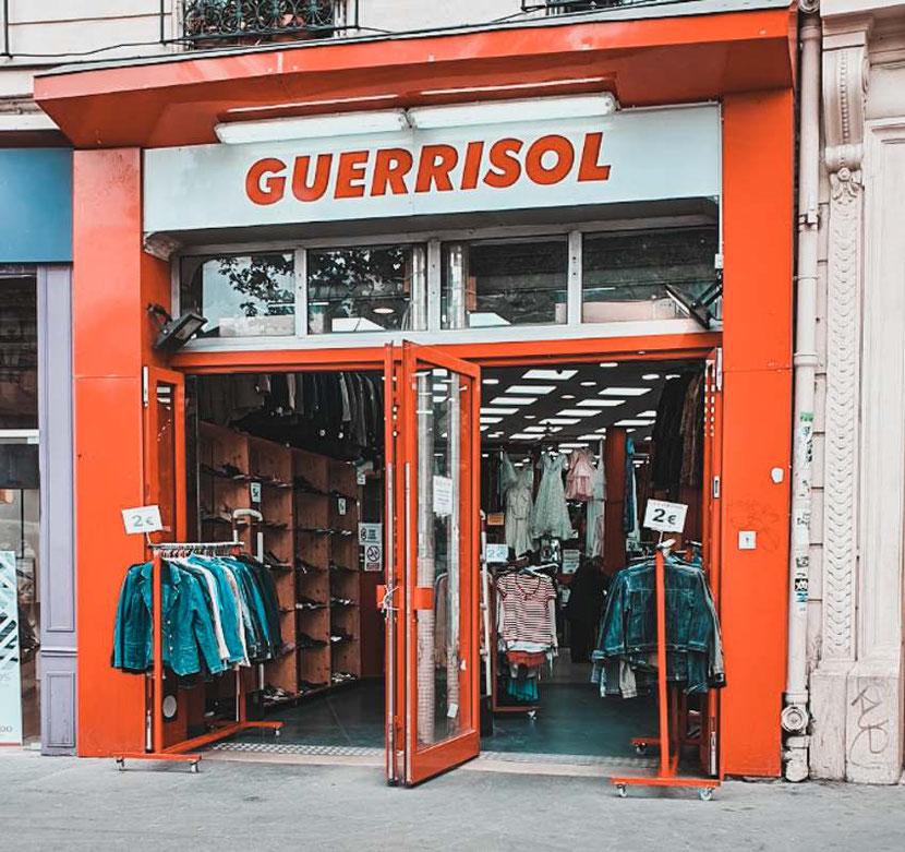 Guerrisol , a second hand shop in Paris