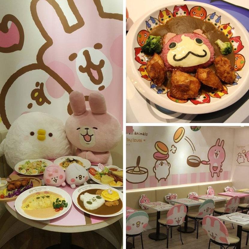 тематическое кафе для детей и взрослых в Гонконге - Kanahei small animals